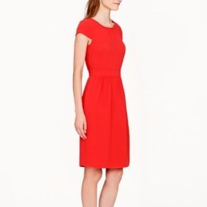 J crew red crepe cap sleeve dress sz 10